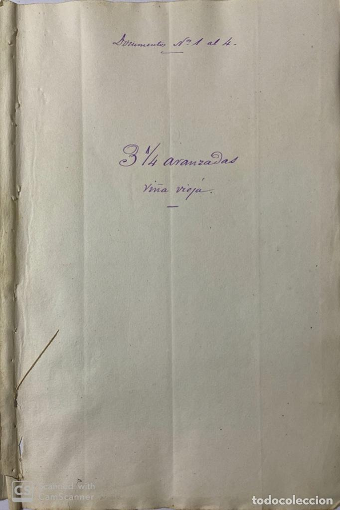 Manuscritos antiguos: JEREZ DE LA FRA, 1867. AGREGACION Y REVALORIZACION DE TIERRAS + TITULOS DE VIÑA EN EL PAGO DE ARGAL - Foto 7 - 189041657