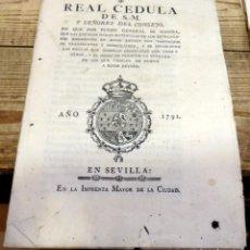Manuscritos antiguos: 1791 REAL CEDULA DE CARLOS IV E INSTRUCCIONES SOBRE MATRICULACION DE EXTRANJEROS EN ESPAÑA,16 PGS. Lote 189358207