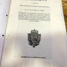 Manuscritos antiguos: 1826, CEDULA VALIDACION O ANULACION JUICIOS... GOBIERNO CONSTITUCIONAL,CONTRABANDO Y DUQUE DE ALBA A. Lote 189362520