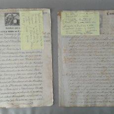Manuscritos antiguos: IMPRESIONANTE LOTE DE DOCUMENTOS DE VENTAS DE INGENIOS ,EN LA ÉPOCA COLONIAL EN CUBA ,DE ESCLAVOS . Lote 189483673