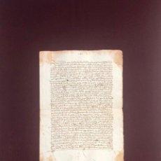 Manuscritos antiguos: DOS DOCUMENTOS SOBRE LA VENTA DE UNAS CASAS EN LA PLAZA PÚBLICA DE PLASENCIA (CÁCERES) 1504. Lote 189540227