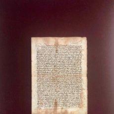 Manuscritos antiguos: VENTA DE UNA CASA EN LA PLAZA PÚBLICA DE PLASENCIA (CÁCERES) POR LA MUJER DE UN BOTICARIO 1505. Lote 189540865