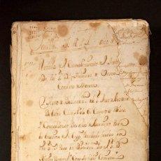 Manuscritos antiguos: AÑO 1723. GERENA, SEVILLA. FUNERAL DE ADRIANA DE URZUA, CONDESA DE GERENA. 5.000 MISAS POR SU ALMA. . Lote 189580491