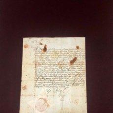 Manuscritos antiguos: EL REY FELIPE III SOBRE LOS SERVICIOS DE UN SOLDADO. FIRMA Y SELLO DEL REY 1601. Lote 189580733
