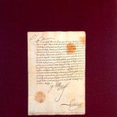 Manuscritos antiguos: FELIPE IV A DUQUE DE ALBA VIRREY NÁPOLES LEPANTO FLANDES TÚNEZ JUAN AUSTRIA FIRMA SELLO REY 1624. Lote 189606970