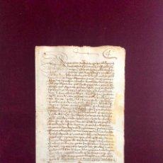 Manuscritos antiguos: DOCUMENTO OTORGADO POR UNA VECINA DE PLASENCIA (CÁCERES) EN 1554. Lote 189748745