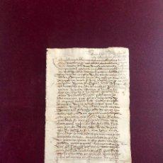 Manuscritos antiguos: DOCUMENTO OTORGADO POR UN MERCADER DE PLASENCIA (CÁCERES) EN 1578. Lote 189749132