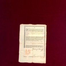 Manuscritos antiguos: DOCUMENTO FIRMADO Y SELLADO POR FRANCISCO ZAPATA, OBISPO DE ZAMORA. Lote 189817998