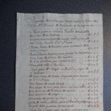 Manuscritos antiguos: MANUSCRITO AÑO 1774 VALLADOLID INTERESANTE INFORME DE UN SASTRE SOBRE PRECIOS. Lote 189882132
