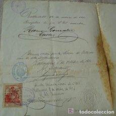 Manuscritos antiguos: EL REY ALFONSO XIII CONCEDE TITULO DE CAPITÁN AÑO 1909. Lote 189982111