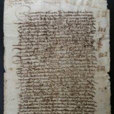 Manuscritos antiguos: ALMANSA ALBACETE 1548 ESCRITURA DE VENTA DE UNA CASA. Lote 190039000