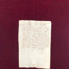 Manuscritos antiguos: CERTIFICADO DEL CONTADOR DEL EJÉRCITO DE CATALUÑA SOBRE LOS SERVICIOS DE UN SOLDADO. PERPIÑAN 1640. Lote 190116971