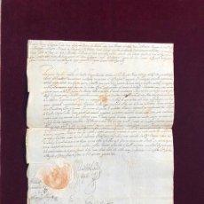 Manuscritos antiguos: PATENTE DE CAPITÁN DE CABALLOS CORAZAS POR EL VIRREY DE NÁPOLES 1640. Lote 190117500