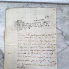 Manuscritos antiguos: MANUSCRITO DE 1806 EN CATALÁN SELLO CARLOS III JAÉN Y GRANADA. VER FOTOS ANEXAS. . Lote 190319821