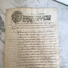 Manuscrits anciens: MANUSCRITO DE LA VILLA DE CASTELLTERSOL 1761 LONJA DE ESTA CIUDAD DE BARCELONA. SELLO DE BCN. . Lote 190324508