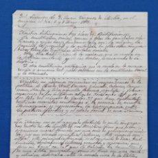 Manuscritos antiguos: MANUSCRITO DEL DISCURSO DE D JUAN VÁZQUEZ DE MALLA CONGRESO 6 Y 7 MAYO 1989. Lote 190529017