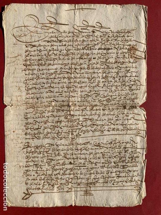1560 - DON DIEGO DE TOLEDO - ENRIQUE DE GUZMAN, CONDE DE ALBA DE LISTE - ORDEN DE MALTA - (Coleccionismo - Documentos - Manuscritos)