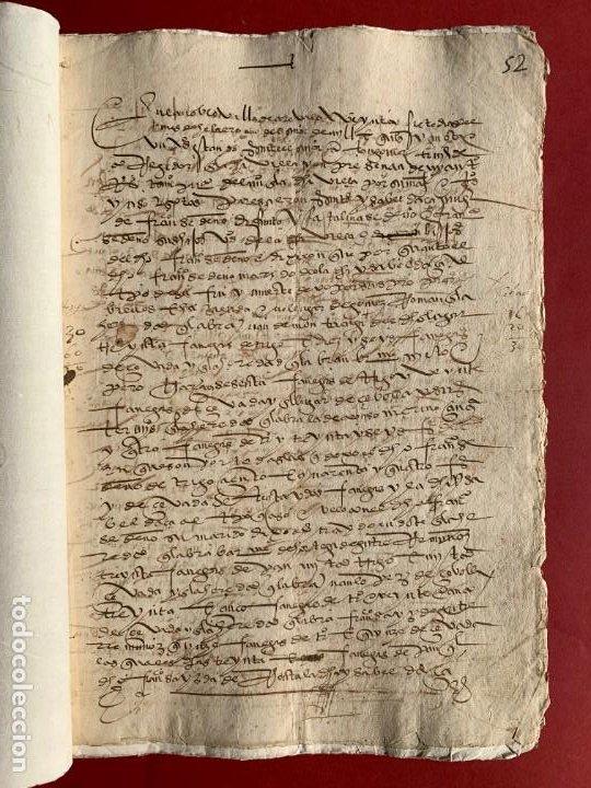 1551 - MANUSCRITO REFERENTE A LA PARTICIÓN DE UNAS PROPIEDADES - ARÉVALO - FAMILIA SEDEÑO - (Coleccionismo - Documentos - Manuscritos)