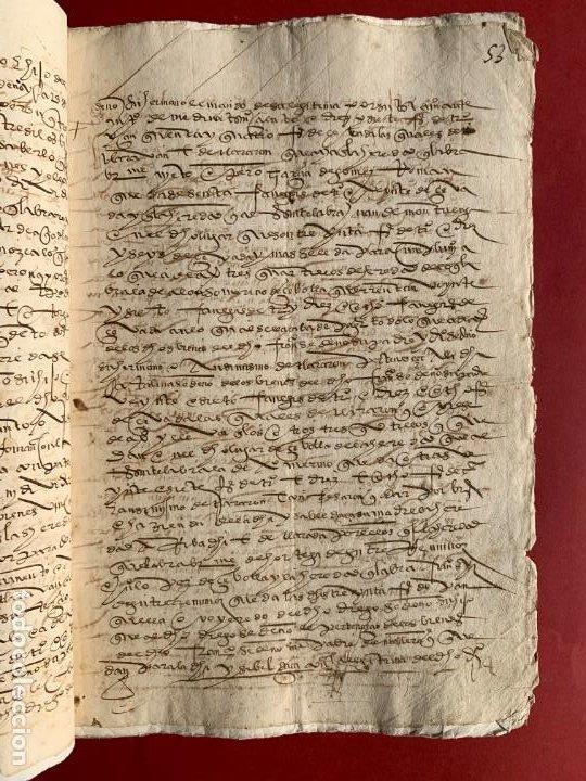 Manuscritos antiguos: 1551 - Manuscrito referente a la partición de unas propiedades - Arévalo - Familia Sedeño - - Foto 2 - 190532691