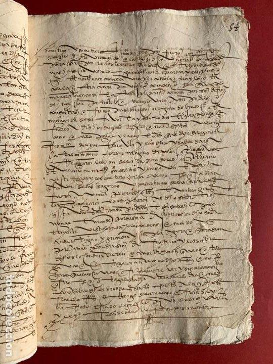 Manuscritos antiguos: 1551 - Manuscrito referente a la partición de unas propiedades - Arévalo - Familia Sedeño - - Foto 3 - 190532691