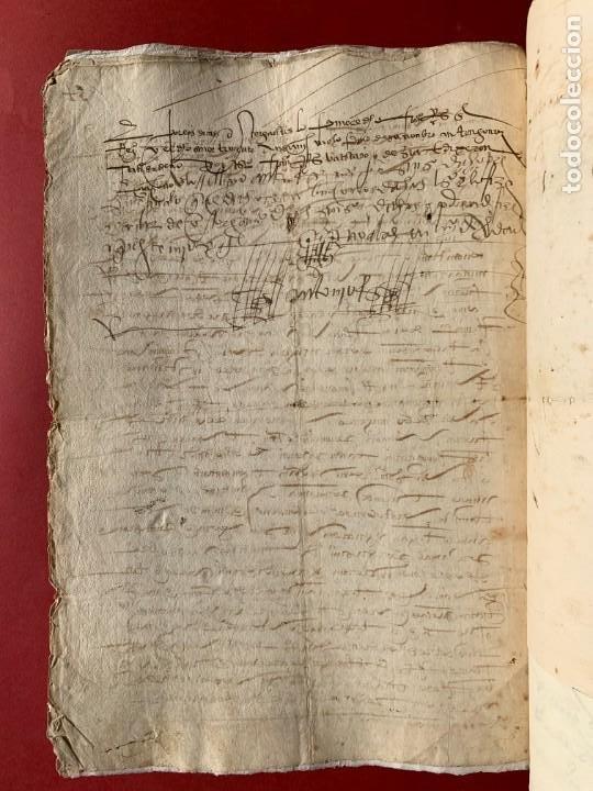 Manuscritos antiguos: 1551 - Manuscrito referente a la partición de unas propiedades - Arévalo - Familia Sedeño - - Foto 4 - 190532691