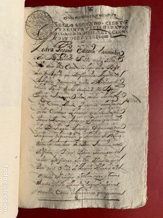 Manuscritos antiguos: 1551 - Manuscrito referente a la partición de unas propiedades - Arévalo - Familia Sedeño - - Foto 5 - 190532691