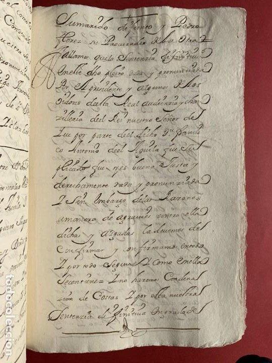 Manuscritos antiguos: 1551 - Manuscrito referente a la partición de unas propiedades - Arévalo - Familia Sedeño - - Foto 7 - 190532691