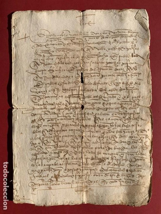 1527 - DOCUMENTO MANUSCRITO REFERENTE A LA VILLA DE AREVALO - FAMILIA SEDEÑO - HISTORIA (Coleccionismo - Documentos - Manuscritos)