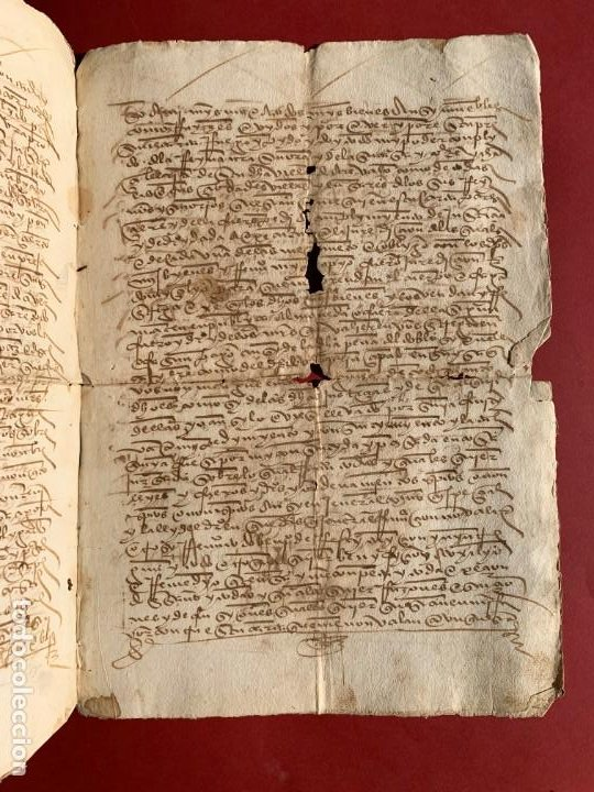 Manuscritos antiguos: 1527 - documento manuscrito referente a la villa de Arevalo - Familia Sedeño - Historia - Foto 2 - 190533183