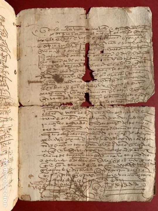 Manuscritos antiguos: 1527 - documento manuscrito referente a la villa de Arevalo - Familia Sedeño - Historia - Foto 3 - 190533183