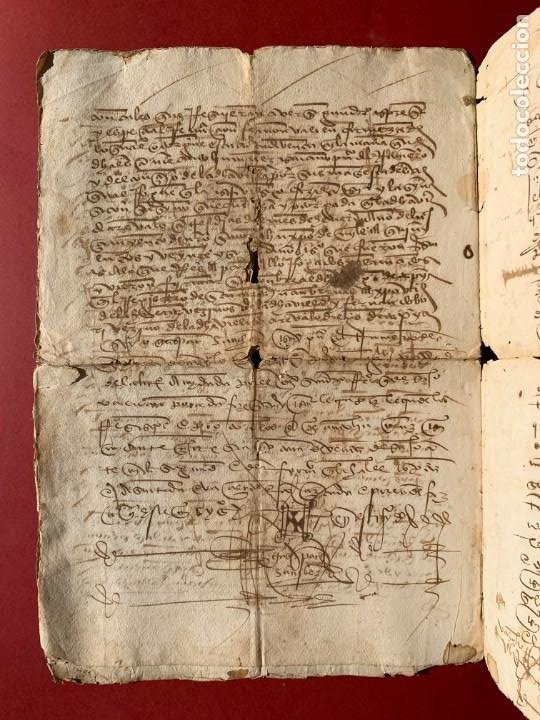 Manuscritos antiguos: 1527 - documento manuscrito referente a la villa de Arevalo - Familia Sedeño - Historia - Foto 4 - 190533183