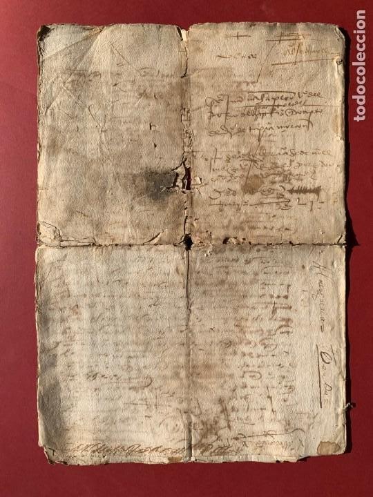 Manuscritos antiguos: 1527 - documento manuscrito referente a la villa de Arevalo - Familia Sedeño - Historia - Foto 5 - 190533183