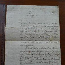 Manuscritos antiguos: GENEALOGÍA SEGARRA GASOL, S XVIII, 8 PAGS. Lote 190583503