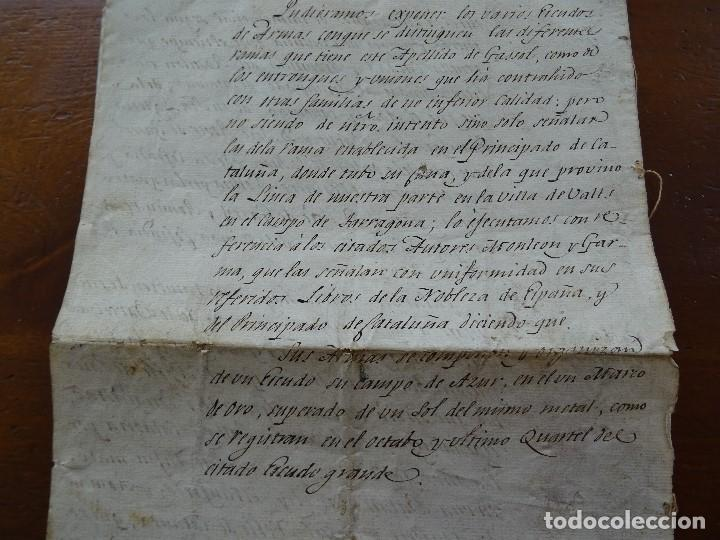 Manuscritos antiguos: Genealogía Segarra Gasol, S XVIII, 8 pags - Foto 5 - 190583503
