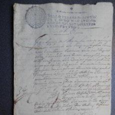 Manuscritos antiguos: MANUSCRITO AÑO 1721 FISCAL 3º -RARO- GRANADA EJECUCIÓN DE SENTENCIA. Lote 190717181