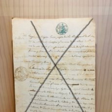 Manuscritos antiguos: ANTIGUO DOCUMENTO MANUSCRITO DE 1862 ES UN CERTIFICADO. Lote 190724126