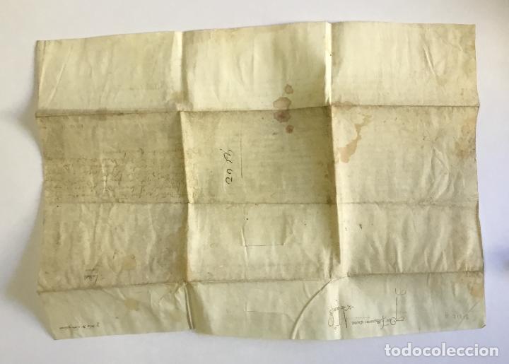 Manuscritos antiguos: [SENTENCIA DE UNA CAUSA DE APELACIÓN]. - [Manuscrito]. CARLOS VI DE FRANCIA. año 1402. - Foto 2 - 190808296