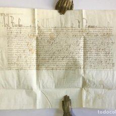 Manuscritos antiguos: [SENTENCIA DE UNA CAUSA DE APELACIÓN]. - [MANUSCRITO]. CARLOS VI DE FRANCIA. AÑO 1402.. Lote 190808296
