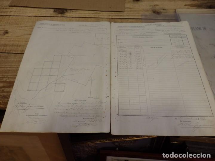 Manuscritos antiguos: TITULO DE PROPIEDAD Y PLANO DE DEMARCACION DE LA MINA DE PLOMO,DENOMINADA SAN RAMON, AZUAGA, BADAJOZ - Foto 2 - 190816722