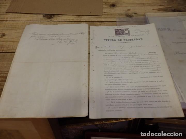 Manuscritos antiguos: TITULO DE PROPIEDAD Y PLANO DE DEMARCACION DE LA MINA DE PLOMO,DENOMINADA SAN RAMON, AZUAGA, BADAJOZ - Foto 3 - 190816722