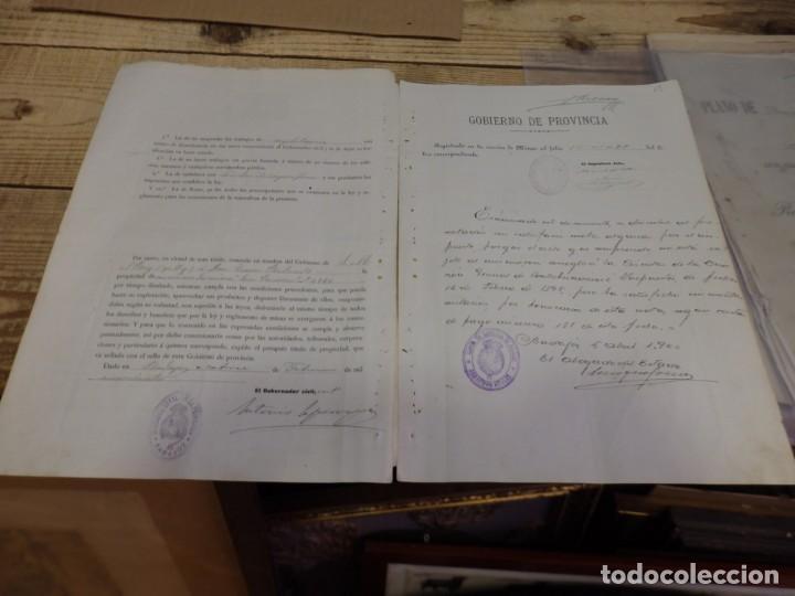 Manuscritos antiguos: TITULO DE PROPIEDAD Y PLANO DE DEMARCACION DE LA MINA DE PLOMO,DENOMINADA SAN RAMON, AZUAGA, BADAJOZ - Foto 4 - 190816722