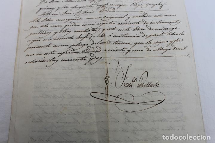 Manuscritos antiguos: SELLO 3º 4 REALES, ISABEL II,. AÑO 1842, Y SELLOS EN SECO, LORCA - Foto 2 - 190895250