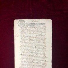 Manuscritos antiguos: VENTA DE VIÑA DE UN PRESO EN LA CÁRCEL REAL DE MEMBRILLA (CIUDAD REAL) 1671. Lote 190996851