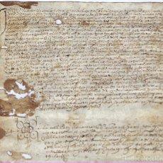 Manuscritos antiguos: APOCA CATALANA EN PERGAMINO, DEL 11 DE DICIEMBRE DE 1595. Lote 191083340