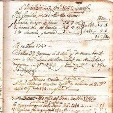 Manuscritos antiguos: EL PRIMER MANUSCRITO DE LA MOCADORA 9 DE OCTUBRE DE 1747 VALENCIA SIGLO XVIII PIULETA TRONADOR. Lote 191104650