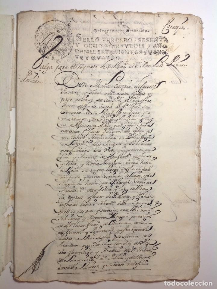 1724 CIUDAD RODRIGO * EXTENSO MANUSCRITO 36 PAG * HERENCIA INVENTARIOS IMPORTANTE FAMILIA * LUIS I (Coleccionismo - Documentos - Manuscritos)