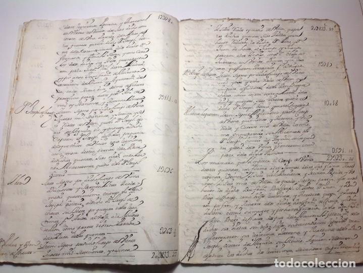 Manuscritos antiguos: 1724 Ciudad Rodrigo * extenso manuscrito 36 pag * herencia inventarios importante familia * Luis I - Foto 11 - 191112903
