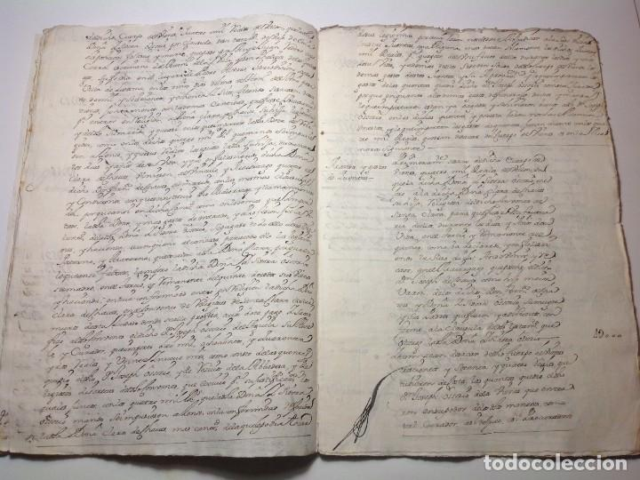 Manuscritos antiguos: 1724 Ciudad Rodrigo * extenso manuscrito 36 pag * herencia inventarios importante familia * Luis I - Foto 12 - 191112903