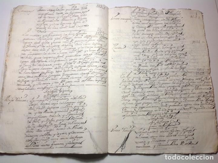 Manuscritos antiguos: 1724 Ciudad Rodrigo * extenso manuscrito 36 pag * herencia inventarios importante familia * Luis I - Foto 14 - 191112903