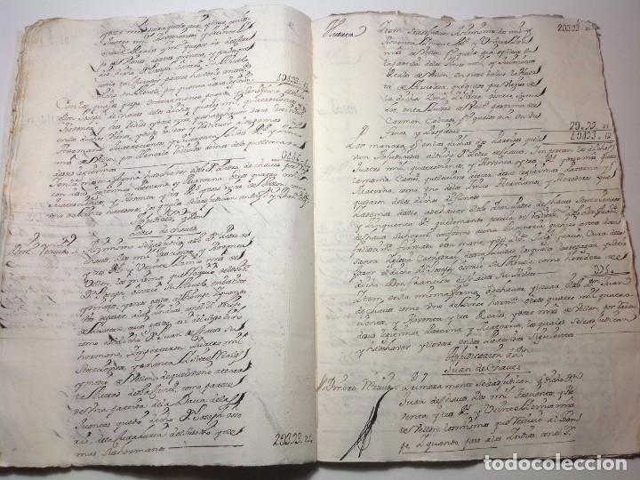 Manuscritos antiguos: 1724 Ciudad Rodrigo * extenso manuscrito 36 pag * herencia inventarios importante familia * Luis I - Foto 15 - 191112903